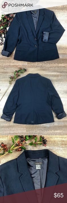Ann Taylor Blazer Gorgeous blue Ann Taylor blazer! In excellent condition. Hardly worn if at all. 86% polyester, 30% rayon, 2% spandex. Size 10. See images for measurements. F-5 Ann Taylor Jackets & Coats Blazers
