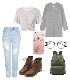 """""""Space"""" by ashtonsgirl-5soslover on Polyvore featuring By Malene Birger, Topshop, Eastpak, Ray-Ban and T By Alexander Wang"""