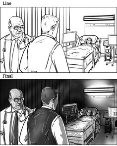 Conceptual Storyboards For Horror Short Pilot. Storyboards in black and white tone by storyboard artist Cuong Huynh. Storyboard Drawing, Storyboard Artist, Human Figure Sketches, Figure Sketching, Horror Films, Horror Art, Comedy Tragedy Masks, Perspective Sketch, Doodle Art Designs