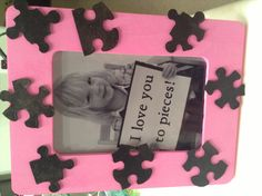 Mother's Day frame and picture.  Such a cute idea from my son's teacher.