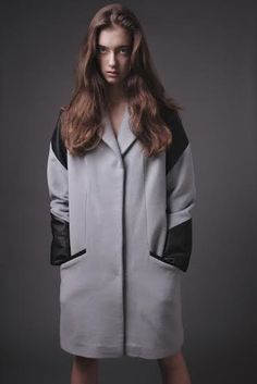 wool coat with leather Atelier Kappe by Gabriela Hezner  designer  fot. Kamila Limanowicz  ECManagement