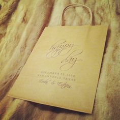 $3.25 each Wedding Welcome Bag designed by wright4design sold on Etsy.com