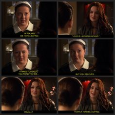 Spotted: Dorota and Blair talk love.  Gossip Girl, season 3.