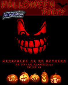 Tarjeta Halloween. Carteles Halloween GratisFondos para Fotos y Foto Montajes en alta calidad. Halloween Invitaciones, Halloween 2014, Pumpkin Carving, Dental, Poster, Halloween Poster, Halloween Cards, Crafts For Kids, Pictures