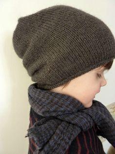 Knitting For Kids, Free Knitting, Knitting Projects, Baby Knitting, Bonnet Crochet, Crochet Yarn, Bandeau Crochet, Tricot Simple, Simple Bags
