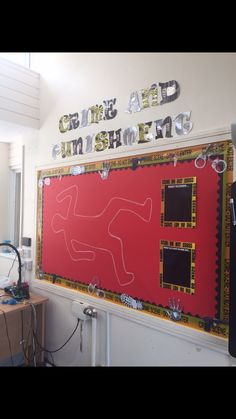 Crime and Punishment Classroom Display