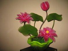 #Tips HD: Hoa Súng bằng vải voan - Water Lily nylon flowers - YouTube