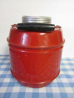 Vintage Red Thermos Jug