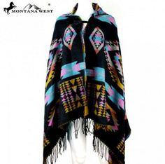 Unisex,Montata West Warm Pancho Hoodie, Soft, Warm, Multi-Color,  #MontanaWest #PonchoHoodie