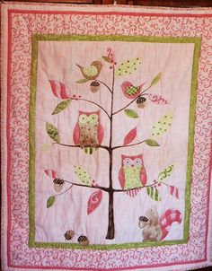 pink bird owl quilt @Sarah Chintomby Chintomby Chintomby Chintomby Wilkins