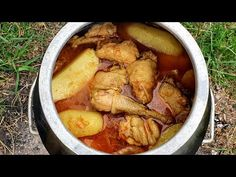 Azerbaijani Chicken Stew Recipe | Chicken Stew With Potatoes | Çox Dadlı Toyuq Sousu | Asmr - YouTube Chicken Stew With Potatoes, Best Chicken Stew, Stew Chicken Recipe, How To Cook Chicken, Chicken Recipes, Multicooker, Soups And Stews, Pot Roast, Chicken Wings