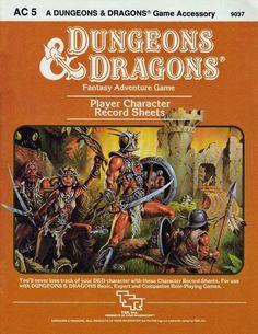 AC5: Player Character Record Sheets, TSR, 1984