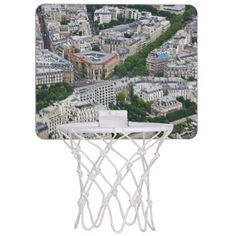 Paris France aerial view Mini Basketball Backboard - photos gifts image diy customize gift idea