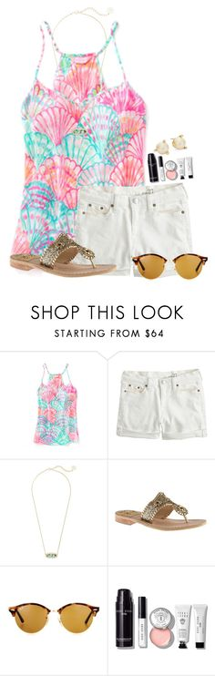 """"" by flroasburn on Polyvore featuring J.Crew, Kendra Scott, Jack Rogers, Ray-Ban, Bobbi Brown Cosmetics and Kate Spade"
