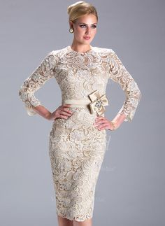 f499e91bc599 Cheap mother of bride, Buy Quality mother of bride dress directly from  China mother of the bride Suppliers  Champagne Long Sleeves Lace Short  Mother of the ...
