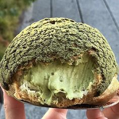 Matcha Cream Puff to start your day off right! @get_doughy_with_me . Indulge in your own Premium Matcha today. Visit link in our bio to learn more!