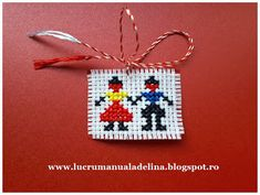 lucru manual adelina: Martisor traditional PERECHEA 8 Martie, Easter Cross, Cross Stitch Heart, Folk Embroidery, Doilies, Sewing Crafts, Symbols, Traditional, Christmas Ornaments