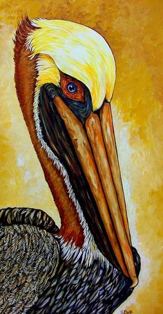 Pelican Painting - Pelican by Sherry Dole