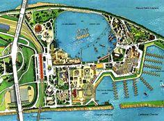Expo 67 - La Ronde - Map Le secteur des amusements de l'Expo 67. La Ronde de l'Expo. Expo 67 Montreal, Niagara Falls Pictures, Laval, Map Globe, World's Fair, Map Art, Photos, History, Globes
