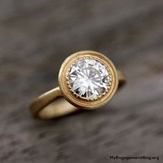 yellow old gold bridal diamond engagement ring - My Engagement Ring