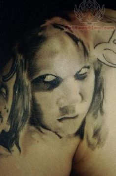 Back > Gallery For > Scary Girl Face Tattoo