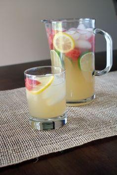 Refrescante Limonada con pedazos de Sandía #ÍntimaHogarMx #Limonada #Drinks