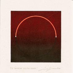 Eric Durant - Linogravure polychrome sur papier algacarta, matrice format 14 x 14 cm