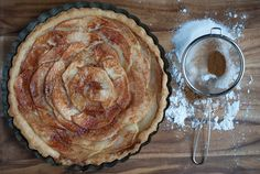Whether you make it for Thanksgiving dessert or just for a crisp fall night, Perfect Autumn Apple Cinnamon Tart is the ideal fall dessert. This apple tart recipe has a very simple flavor that is nonetheless delicious. Pastry Recipes, Tart Recipes, Apple Recipes, Dessert Recipes, Cooking Recipes, Apple Tart Recipe, Fall Desserts, Sweet Desserts, Apple Cinnamon