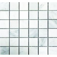 Fireplace tile MS International, Greecian White 12 in.x 12 in. x 10 mm Honed Marble Mesh-Mounted Mosaic Tile, at The Home Depot - Tablet Stone Mosaic Tile, Marble Mosaic, Mosaic Tiles, Backsplash Tile, Tile Flooring, Wall Tile, Bathroom Flooring, Mosaics, Floors