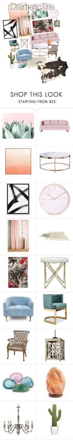 """""""Rustic pastel chic"""" by dramatictitle on Polyvore featuring interior, interiors, interior design, home, home decor, interior decorating, Gus* Modern, West Elm, Anthropologie and Kate Spade"""