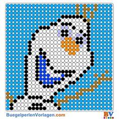 Olaf Bügelperlen Vorlage - Frozen perler pattern