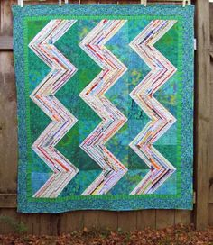 This is Ann Marie's seventh selvage quilt, and what a beauty it is!! You can see more on her blog: Run and Sew Quilts .