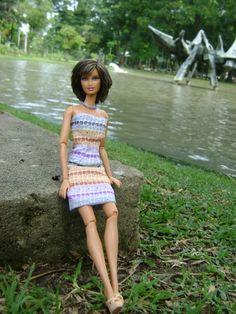 Barbie Basic doll in a summer dress I made
