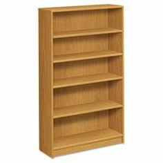 * 1870 Series Bookcase, 5 Shelves, 36w x 11-1/2d x 60-1/8h, Harvest by MotivationUSA. $227.14. * HON 1870 Series square edge laminate bookcase. Color: Harvest; Material: Laminated; Shelf Count: 5.