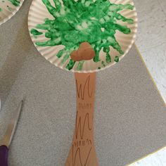 Palm tree kid's craft