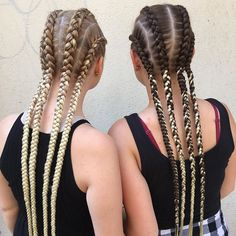 [New] The 10 Best Braid Ideas Today (with Pictures) - Copanky prodlouzene kanekalonem cena za Kanekalon Braids, Cornrows, Salons, Hair Color, Hair Beauty, Hair Styles, Dutch, Pictures, Ideas