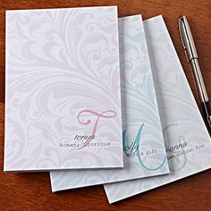 Name Meaning Personalized Notepad