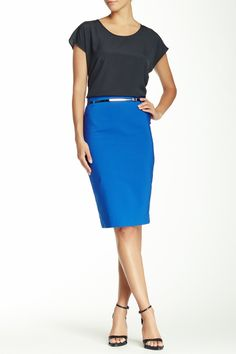 Love the whole outfit! - Belted Pencil Skirt by Atelier Luxe on @nordstrom_rack