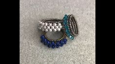 Corona Ring also has a matching earring (separate video) Beaded Rings, Beaded Jewelry, Beaded Bracelets, Wire Jewelry, Handmade Rings, Handmade Jewelry, Diy Fimo, How To Make Rings, Ring Tutorial