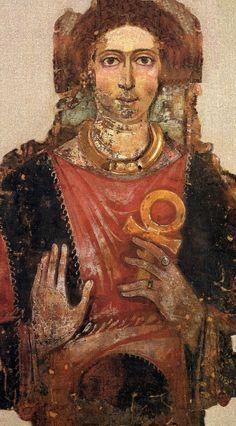 Faiyum portrait of woman with ankh FMPW