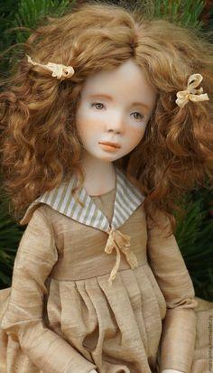 Купить Коллекционная куколка Марийка. - оливковый, кукла ручной работы, единственный экземпляр, кукла в подарок