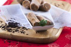 Croquetes de bolacha com pepitas de chocolate