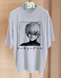 Anime Inspired Outfits, Anime Outfits, Cool Outfits, Aesthetic Shirts, Aesthetic Clothes, Ken Kaneki Tokyo Ghoul, Tokyo Ghoul Shirt, Painted Clothes, Graphic Shirts