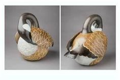 Canadian goose painted gourd