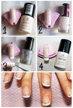 How to do: Glitter French Manicure