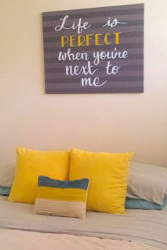 Gray yellow turquoise nursery bedroom art. Etsy