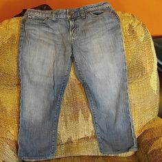 Jean Capris/cropped jeans See pics. Hits me a few inches above ankle but I am petite. X2 Jeans Ankle & Cropped