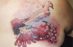I love to have a phoenix done in a watercolor like this.