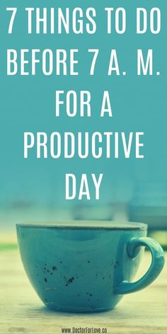How to have a productive day starting in the morning