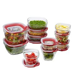 Rubbermaid Brilliance Food Storage Container Set 22 Piece Clear Interesting Amazon Rubbermaid Brilliance Food Storage Container 14Piece Design Decoration